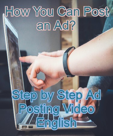 How You can post an ad in English